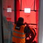 colocación test blower door