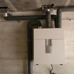 Recuperador de calor situado en el garaje